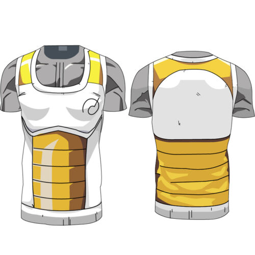 Mens Dragon Ball Z Compression T-Shirt DBZ Goku Sports Short Sleeve Jersey Tops