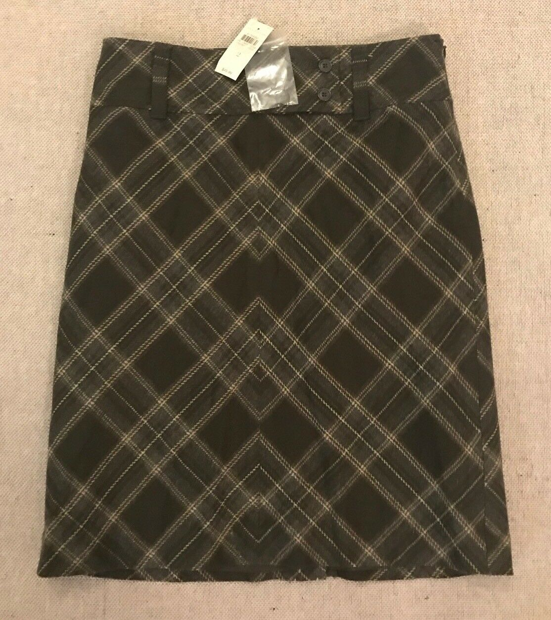 49 ANN TAYLOR Women's Size 2 Acrylic Wool Skirt w Lining Casual Career  H3
