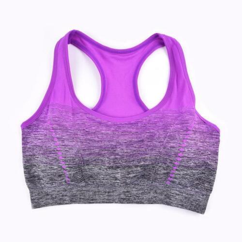Women Sport Bra Running Gym Yoga Padded Fitness Tank Stretch Workout Underwear N