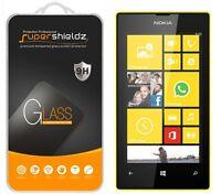 3x Supershieldz Nokia Lumia 520 Tempered Glass Screen Protector Saver