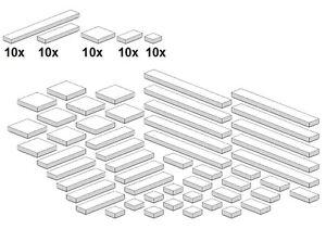 Lego-Bricksy-039-s-Bascis-Weiss-G05-Glatte-Teile-White