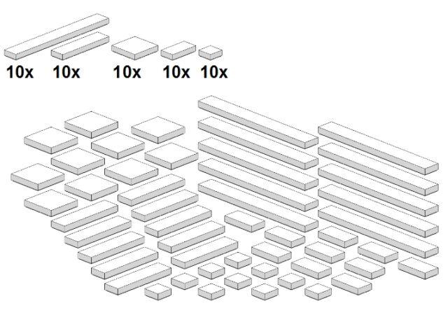 Lego - Bricksy's Bascis - Weiß - G05 - Glatte Teile - White