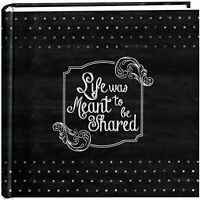 Pioneer Photo Albums 200-pocket Chalkboard Printed shared Theme Photo Album Fo
