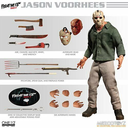 Jason Voorhees Mezco colectivo ONE 12 figura-horror-Friday the 13th parte 3