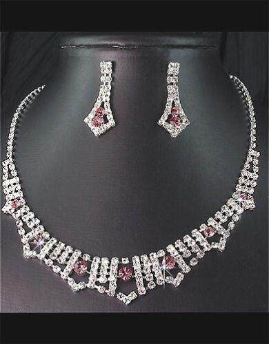 Set de lujo 2 pzas cadena aretes schmuckset Collier collar esmaltes Kranz Paris