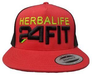 Image is loading Yupoong-Herbalife-24FIT-Snapback-Hat-Trucker-Cap-Custom- e75b84000a17