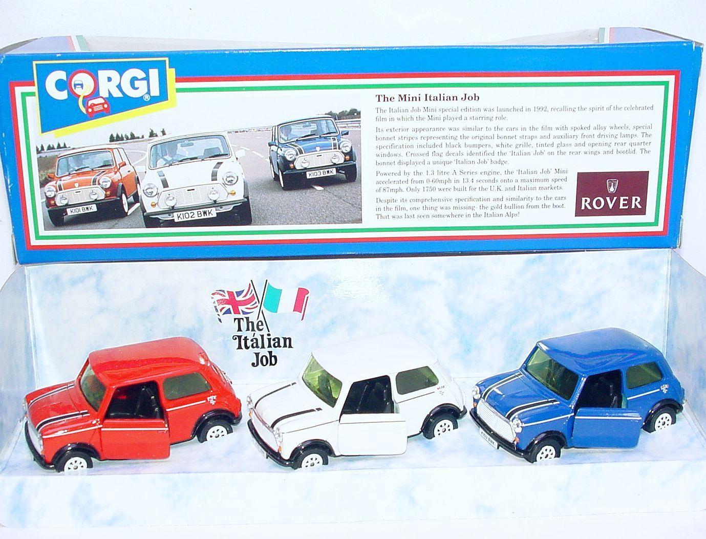 Corgi Toys 1 36 MORRIS MINI COOPER ITALIAN JOB Rally 3 Car Set 94171 MIB`93 RARE