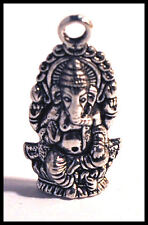 Indian Elephant Ganesh Tibetan Silver jewellery charm craft Hindu God