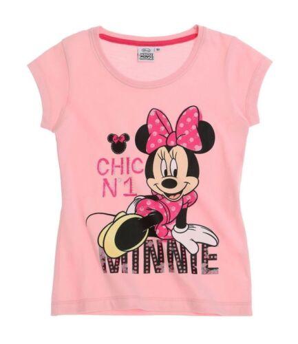 104-140 Mädchen Shirt kurzarm tshirt T-Shirts rosa pi Minnie Mouse T-Shirt Gr