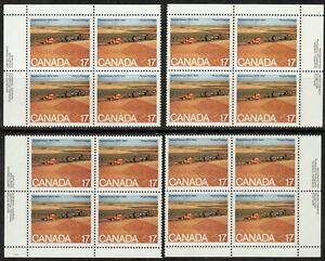 CANADA-863-17-Saskatchewan-Matched-Set-Inscription-Blocks-MNH