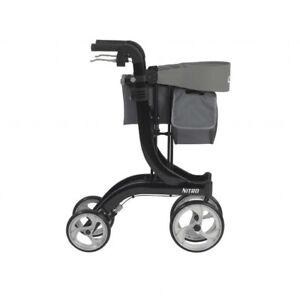 Drive Medical Nitro Euro Style Walker Rollator Tall Black 822383523934 Ebay