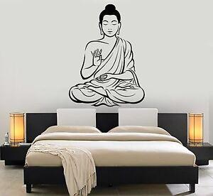 Image Is Loading Vinyl Wall Decal Buddha Meditation Room Yoga Buddhism