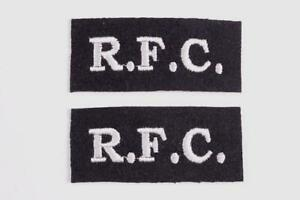1 X PAIR WW1 RFC PILOTS ROYAL FLYING CORPS SLEEVE CLOTH PATCH FLASH INSIGNIA