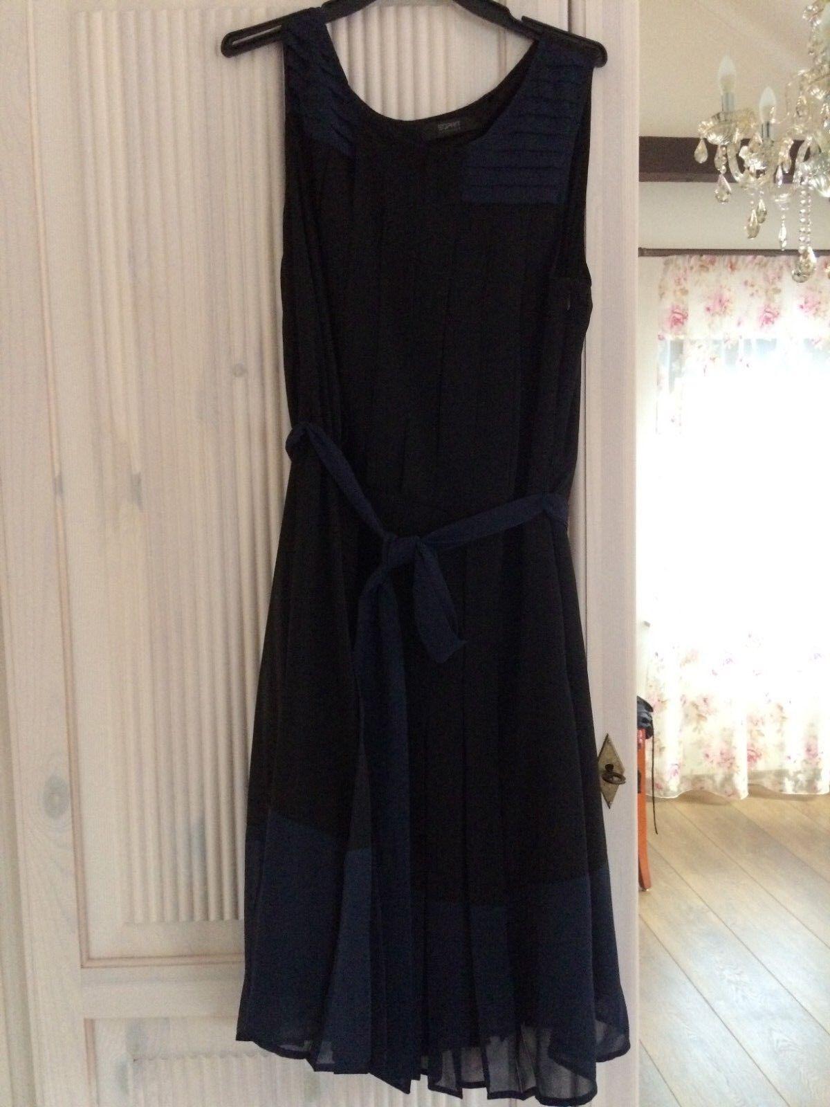Esprit Collection Kleid Festkleid schwarz blau Gr 42 L Neu