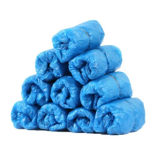 100Pcs Disposable PVC Plastic Over Shoes Shoe Boot Covers Carpet Protectors UK
