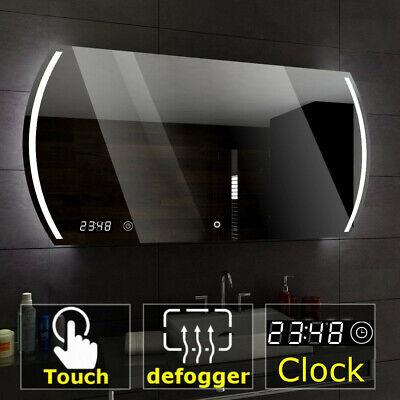 MEDIOLAN Badspiegel mit LED Beleuchtung WETTERSTATION SCHALTER HEIZMATTE UHR A04
