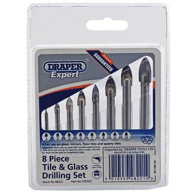 Draper Expert Ceramic Tile Drill Bit Set Mirror/Glass/Tiling Drilling Tool 48221