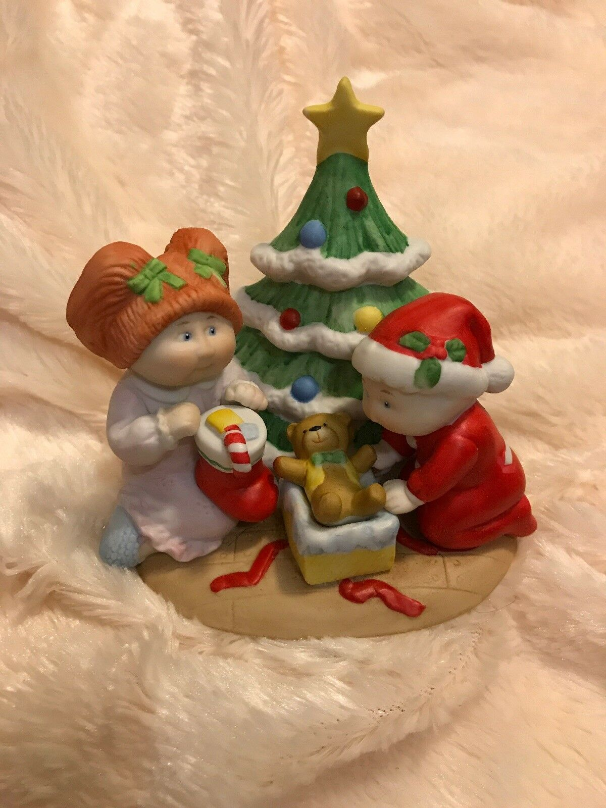 1984 CABBAGE PATCH KIDS Lot Of Of Of 4 Christmas Figurine Statues original Boxes EUC 2fa64e