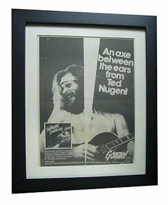Ted Nugent Double Live Gonzo Poster Ad Rare Original 1978
