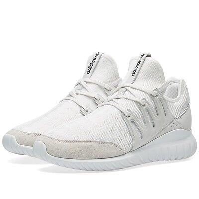 Ciudad Menda familia Trivial  Adidas Originals Men's Tubular Radial Primeknit Shoes NEW AUTHENTIC White  S76714