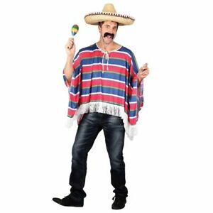 Adult Mens Poncho Fancy Dress Mexican
