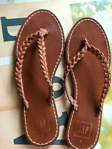 Gap-Flat-Slippers-with-Leather-Straps-sz-6