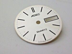 Vintage-ADEC-Small-Quartz-Dials-Made-by-Citizen-NOS-Watch-Repair-Parts-Silver
