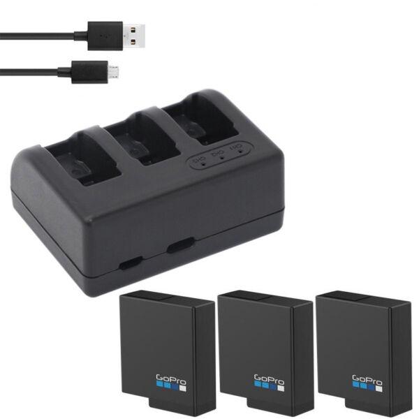 2019 DernièRe Conception 1220 Original Mah Batterie Li-ion + Triple Chargeur Pour Gopro Hero 5 Caméra Action