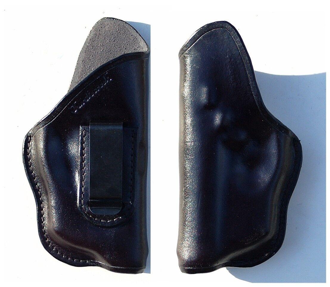 Funda de cuero en el interior de la cintura Turtlecreek Bersa 380cc con TR16 ArmaLaser-Diestros & Clip Fijo
