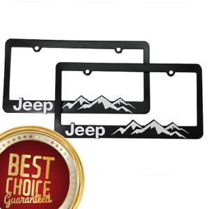 2-Jeep-License-Plate-Frame-Wrangler-Rubicon-Cherokee-Renegade-Compass-Jeep-L