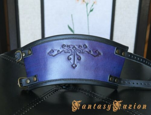 Colorful Victorian Fashion Vintage Stamps Design Leather Cuff Bracer