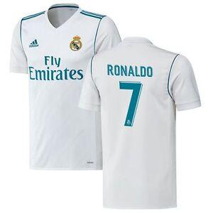 e720d0ff30a16 adidas Real Madrid 2017 - 2018 C. Ronaldo  7 Home Soccer Jersey CR7 ...