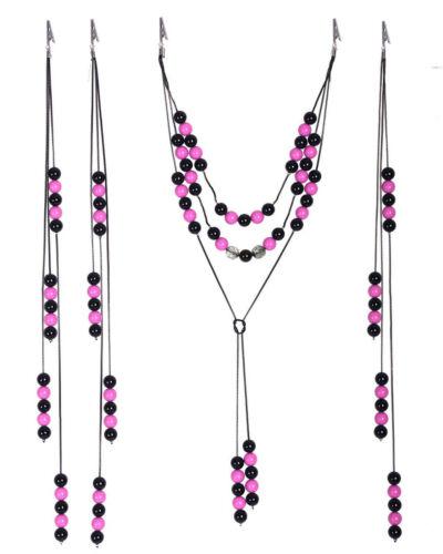 QHP Pferde-Schmuck Perlenschnüre für Mähne und Schweif verschiedene Farben