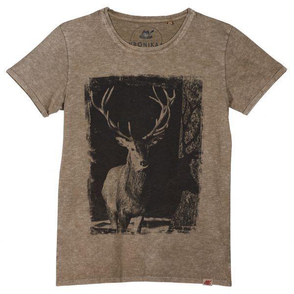 Shirt Motif  Cerf  Messieurs sable taille L voir photo