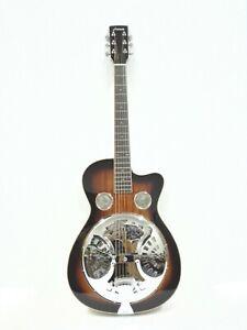 Haze Tobacco Sunburst Resonator Acoustic Guitar,All Mahogany+Free Bag SDG-738