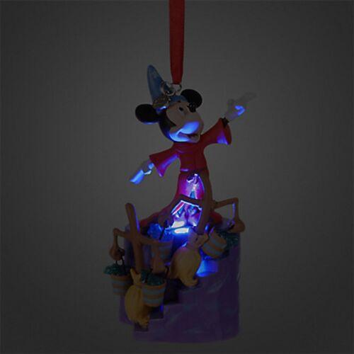 Disney Store Mickey Mouse Sorcerer Fantasia Light Up Sketchbook Holiday Ornament