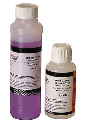 Kit de 350g de résine EPOXY haute transparence pour stratification et glaçage.