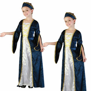 Kids Girls Cinderella Princess Fancy Dress Costume Party Outfit Ages 4-12