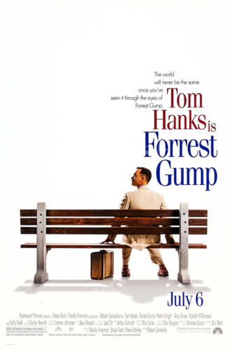 MOV101 Posters USA Forest Gump Tom Hanks Movie Poster Glossy Finish