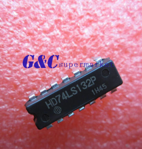 10PCS HD74LS132P DIP IC HITACHI NEW GOOD QUALITY
