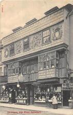 OLD HOUSES HIGH STREET CANTERBURY ENGLAND TO USA POSTAGE DUE POSTCARD 1915