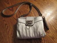 Chaps Pamela Silver Handbag Purse 8x7.5,