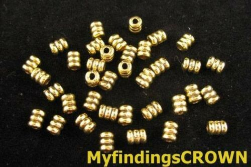 250PCS  Antiqued gold screw tube spacer beads 5x4mm FC158