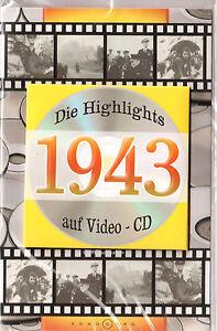 Geburtstagskarte Die Highlights von 1943! Mit Video-CD Jahreschronik, NEU + OVP!