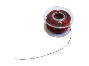 S437 Set Kupferlackdraht rot schwarz 0,15mm Lackdraht CU-Draht auf Spule je 10m