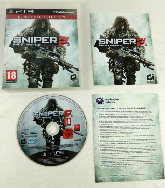 Jeu Playstation 3 PS3 VF   Sniper 2 Ghost Warrior Limited Edition  avec notice