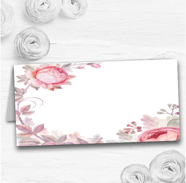 Beautiful Watercolour Floral Wedding Table Seating Name Place Cards