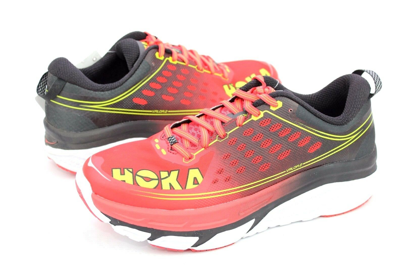 f079966dd9c1d Hoka One One One One Mens Valor 2 Running Shoes Poppy Red   Black Size 9