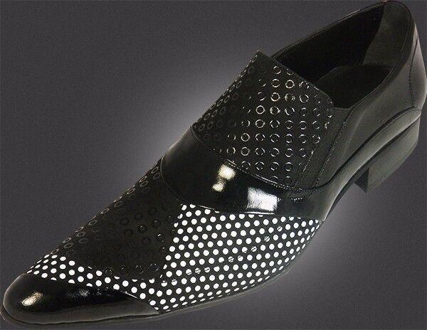 OG CHELSY-DESIGNER ITALIANO SCARPA a mano, motivo traforato nero 40 | Qualità E Quantità Assicurata  | Scolaro/Ragazze Scarpa