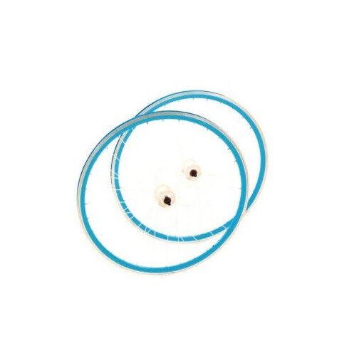 Point Laufrad Satz SINGLE SPEED - weiss blau - 700C - 32 Loch SV ungeöst